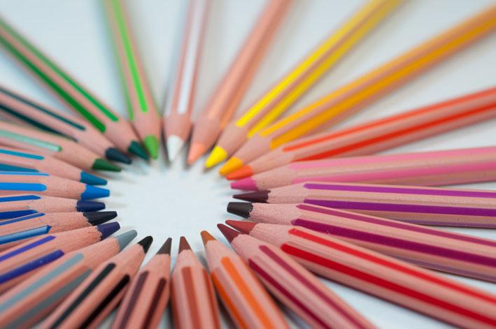 Viele Stifte für den Blog