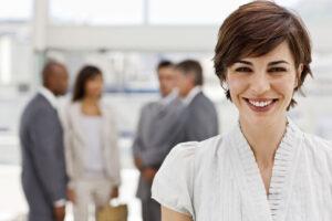 Frau als Führungskraft für Führungskräfte-Entwicklung